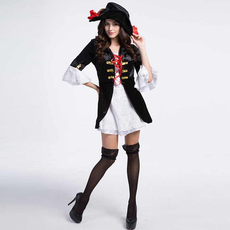 Carnival Party Sexy Role Playing Outfit Plus Size Halloween Costumes For Women  Pirate Clothing Fantasy Costume Adult Fancy Dress-in Sexy Costumes from ... 8588cff12f0a