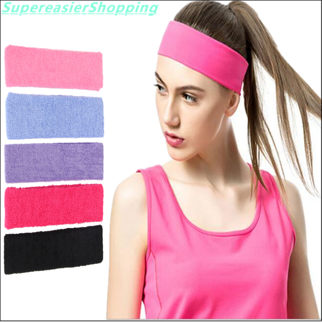 12pcs Lot Women Elastic Headbands for Yoga Sports Active Solid Color  Fashion Girls Head Bandages Hair Bands Headwear Accessories 0f24b4b0dfca