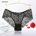 New Fashion 2016 Summer Women's Panties Transparent Underwear Women Lace Soft Briefs Sexy Lingerie Mid Waist hot sale