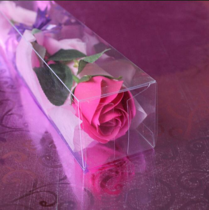 Transparent Packaging PVC Box Special Packing for Roses Toy Display Box Wedding Party Flowers Package Gift Box 2