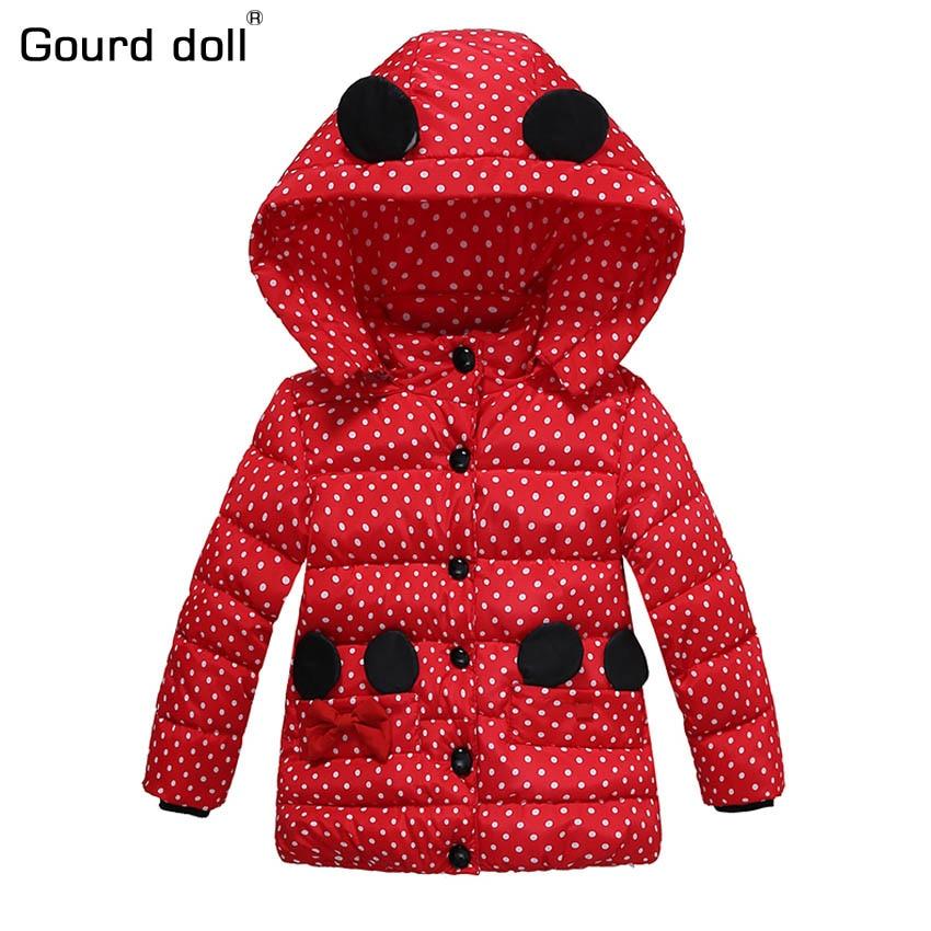 ccc5f9dd339c 2017 New pattern Baby Girls Jacket Kids Winter Cartoon Lovely ...
