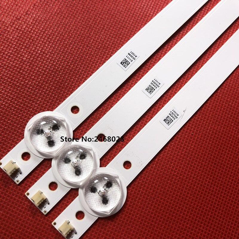 530mm LED Backlight strip For Proline 28 inch TV L2830HD SVJ280A01 REV3 5LED 130402 M280X13-E1-H 530mm led backlight strip for proline bravis 28c2000b 28 inch tv l2830hd svj280a01 rev3 5led 130402 m280x13 e1 h