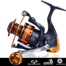 Saltwater New Arrival Metal Spinning Fishing Reel Coil carretilha pesca 6000 Series 12+1BB 5.1:1 molinete Wheel China