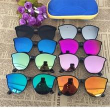 Cubojue Wholesale Children Sunglasses Boys Girls Mirrored Ca