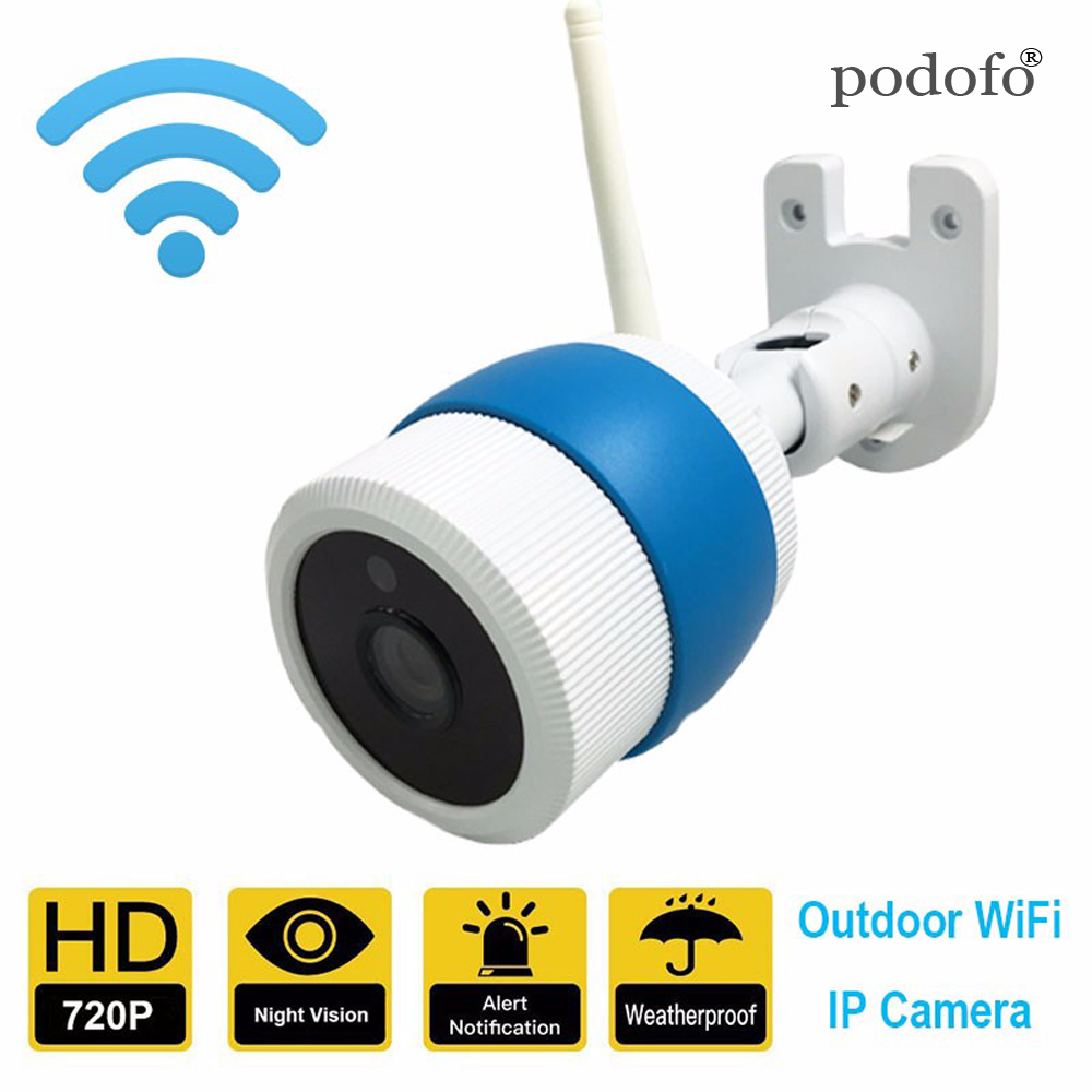 Wireless WIFI HD 720P Bullet IP Camera ONVIF Outdoor Home Security Cam Support SD Waterproof IR Cut Night Vision wireless wifi hd 720p 1 0mp 32g sd ip bullet camera white metal waterproof security outdoor 36ir night vision phone setting