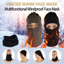 Motorcycle Winter Face Mask Windproof Velvet Fabric Unisex Bicycle Moto Headgear Multifunction Protect Warm Full