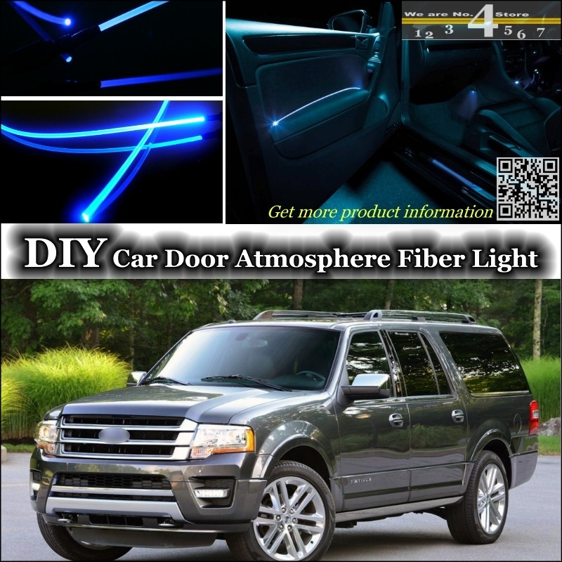 For Ford Expedition Interior Ambient Light Tuning Atmosphere Fiber Optic Band Lights Inside Door Panel Illumination Not El