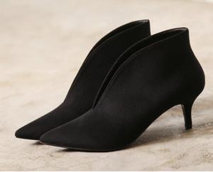 Image 5 - XGRAVITY European Sexy Point Toe Girl Thin Heel Woman Shoes Deep V Design Lady Fashion Shoes Elegant European Women Boots A059