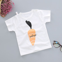 цены 2020 new baby boy clothes t-shirts summer kids short sleeve t shirt quality 100% cotton unicorn cartoon radish children's tshirt