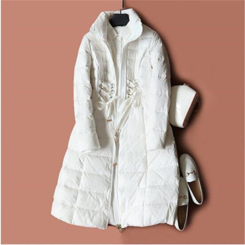 Veste Manteau Vers Hiver 2 De Femmes Chaud 1 Outwear Parkas Vêtements Le Lumière Automne Blanc Long Ultra Duvet Canard Ceintures Femelle Mince Bas YxqwAwIH