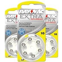 Rayovac 10/A10/PR70 baterías de Zinc Air Siemens, 10/1,45 V, para audífonos, 10 Uds. (60 uds.), nuevo embalaje