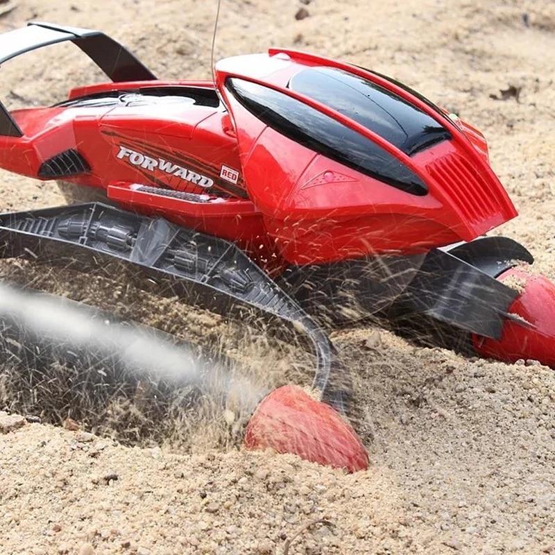 Anfibio Prodezza di RC Serbatoio Auto Multi Funzione di Barca del RC Serbatoio Auto Su Acqua Erba di Sabbia Per Bambini Remote control educativi giocattolo - 4