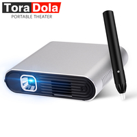 TORA DOLA PH20, Touch DLP Projector with Stylus Pen Android 7.0 WIFI, Bluetooth, 5400mAH Battery, HD in,Portable Theater, LED TV