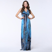 8ffadaf0166 HappDreeSo Robe longue femme ete 2018 Women Summer V Neck Sleeveless Sexy  Beach Dress