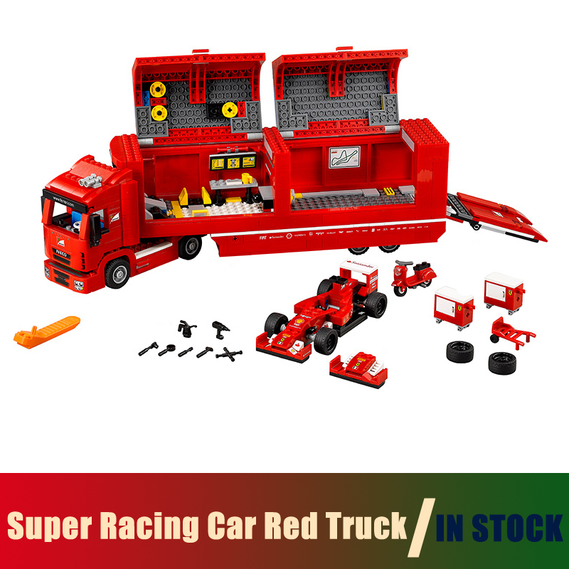 Compatible Lego Technic Series 75913 Models Building Toy Super Racing Car Red Truck 914pcs 21010 Building Blocks Toys & Hobbies les enfants pj racing mission cruiser car dessin maskmm toy anime pj car big truck display jouet children bithday gift toys
