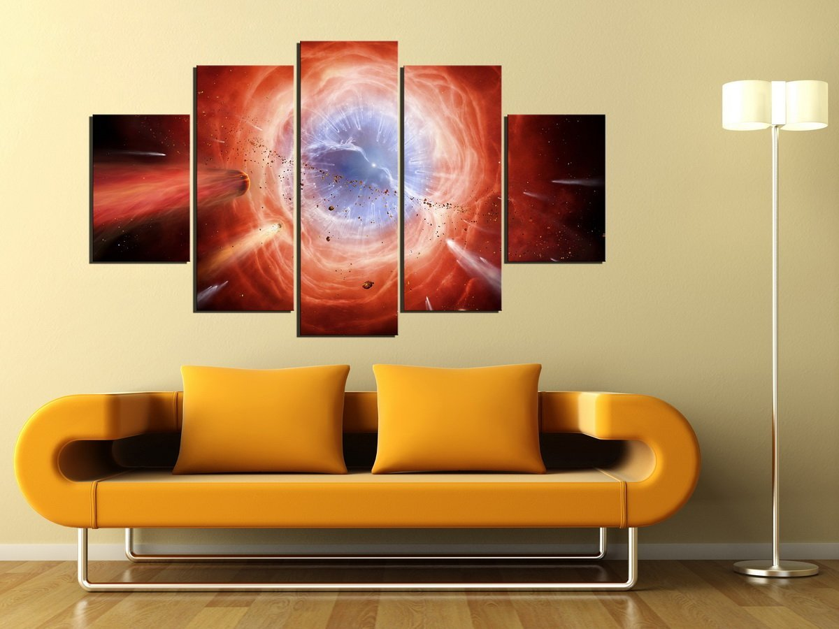 Canvas Paintings Wall Art Picture Print 5 Panel Universe Black Hole ...
