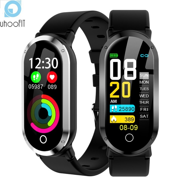 Uhoofit T1 Smart Watch Women Waterproof Clock Heart Rate Monitor Blood Pressure Fitness Tracker Men Smartwatch for IOS Android
