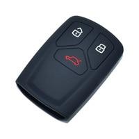 Silicone caso chave do carro para audi a4 a5 s5 q5 q7 tt 2019 3 botões inteligente chaveiro saco fob remoto protetor capa acessórios automóveis Estojo de chaves p/ carro     -