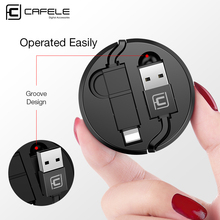Cafele Portable Retractable 2 in 1 Micro and 8 Pin USB Cable for iPhone Xiaomi Huawei 130cm 5V 2A Charging