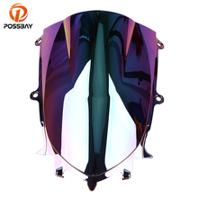 POSSBAY Motorcycle Windscreen Windshield 3 Color Scooter Wind Screen Deflector For Yamaha YZF R6 2017-2018 Cafe Racer