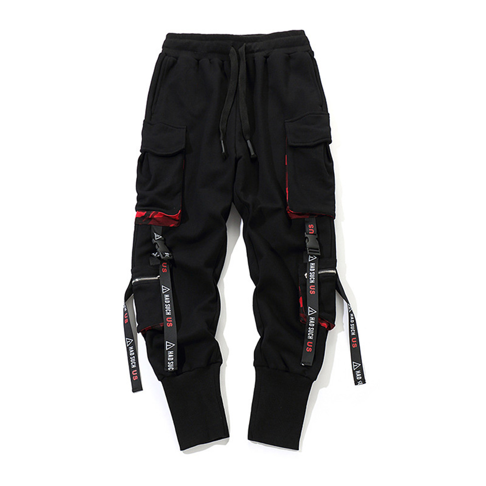 New Arrival Men Work Combat Cargo Pants With Pockets Buckle Straps Techwear Trousers