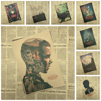Sci fi thriller TV play Stranger Things Classic Kraft Paper Poster Cafe Creative wallpaper Interior Decoration