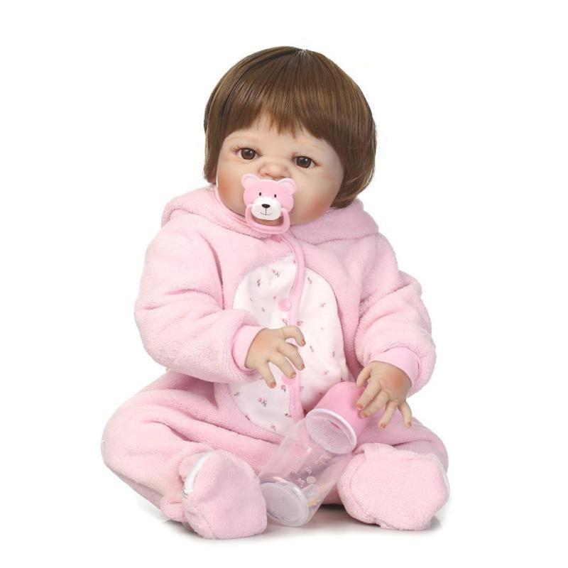 Здесь продается  Realistic Simulation Silicone Reborn Girl Baby Lifelike Doll Kids Bathing Sleeping Playmate Accompany Toys Birthday Gift   Игрушки и Хобби