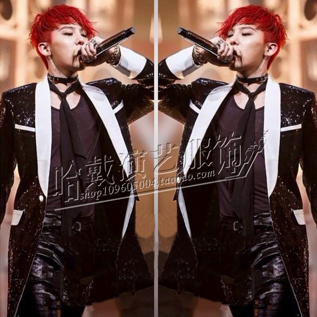 S-6XL!!!  2018  Fashion A male singer costumes Black sequins trench coat Nightclub bar The stage is installed The singer's cloth