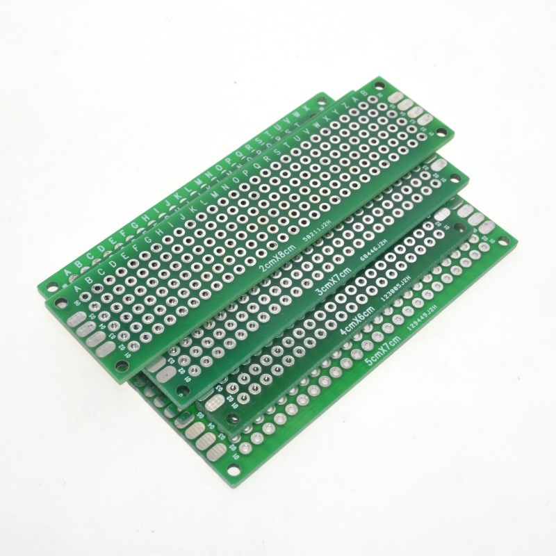 Dropshipping 4PCS 5x7 4x6 3x7 2x8cm double Side Copper prototype pcb Universal Board Fiberglass board for Arduino ...