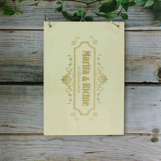Rustic Wooden Diy Photo Al Personalized Wedding Gift For Sign Country Guest Book Custom Wood