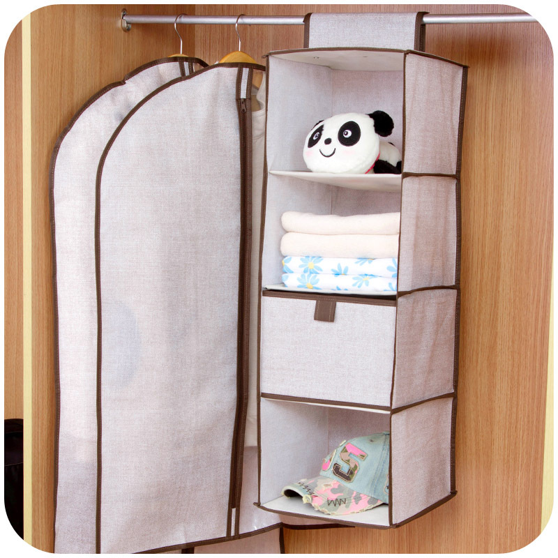 Vanzlife Home Minimalist Linen Closet Storage Hanging Bag Multi Drawer Box  Pouch Hanging Clothes Closet