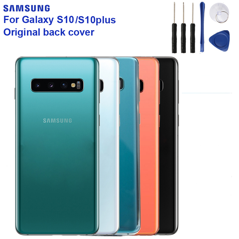 Samsung Original Back Cover Cases Battery Cover Housing For Samsung Galaxy S10 X SM-G9730 S10 Plus SM-G9750 Back Rear Glass Case
