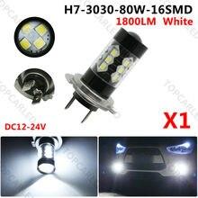 Big Bargain 1Pcs Chips h7 PX26D 80w High Power LED Car fog running light bulbs white