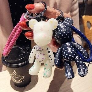 2019 Mode Nouvelle Marque caoutchouc Ours Porte-clés Porte-clés Pour Femmes Sac de Voiture Porte-clés Bibelot Bijoux Cadeau Souvenirs Llavero