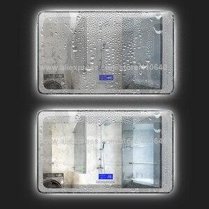 Image 3 - K3015CBF מגע מתג פנל זמן תאריך טמפרטורת תצוגת אנטי ערפל רחצה אמבטיה ארון LED אור מראה שיפוץ