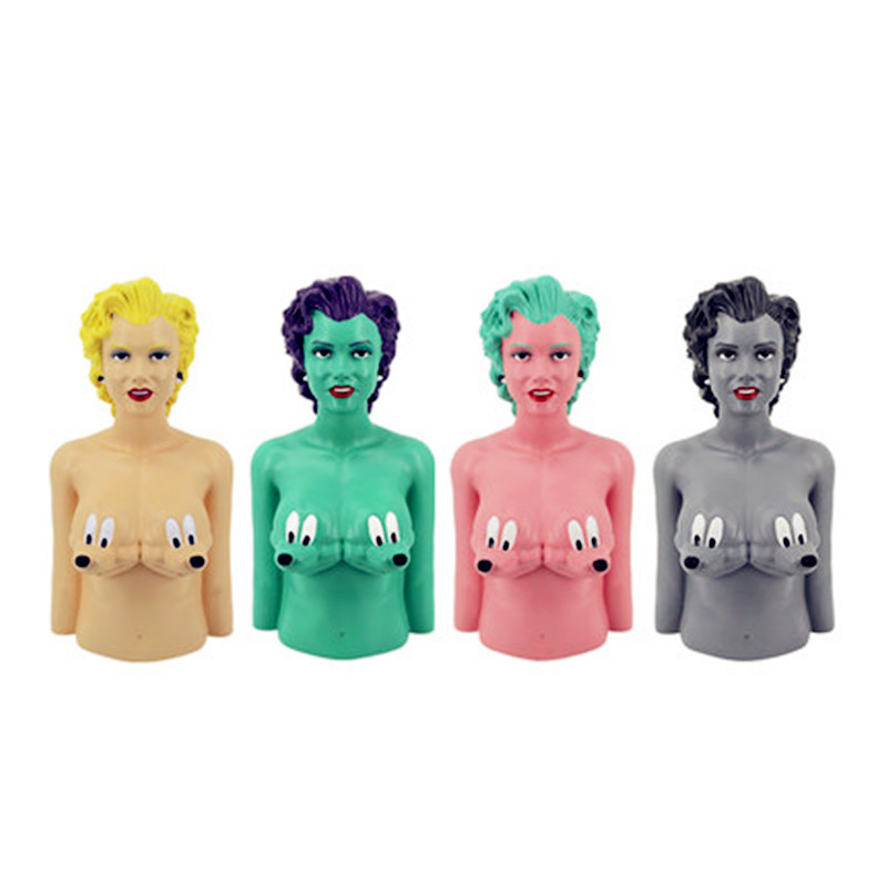 52CM Street Art Medicom Toy Marilyn Monroe Mouse Bust Cosplay KAWS PVC Action Figure Collection Model Toy G1201 2 colour outer space trophy electroplating kaws bape milo kabinett ver medicom toy pvc action figure collection model toy g690