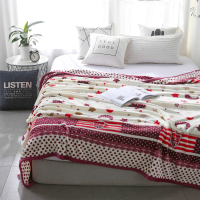 Winter Wool Blanket Red Star Moon PatternFerret Cashmere Blanket Warm Blankets Fleece Super Warm Soft Throw On Sofa Bed