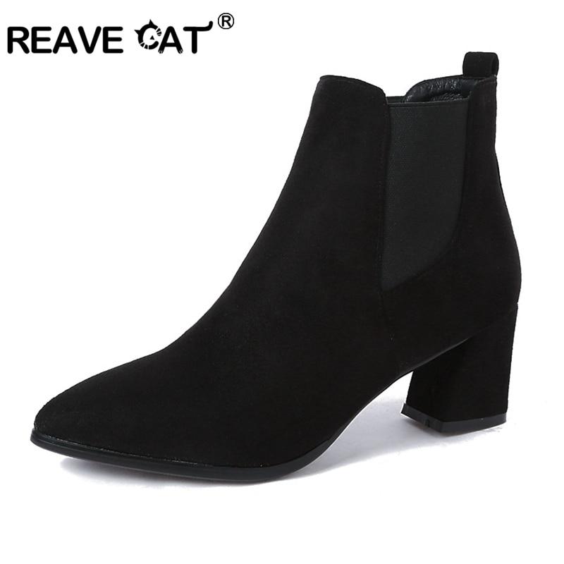 aadb4e77078f60 Troupeau Talons Rinestone Chat Solide Pointu Bottes Dames Fur black Noir  Rinestone Hauts black Bout Zapatos Reave ...