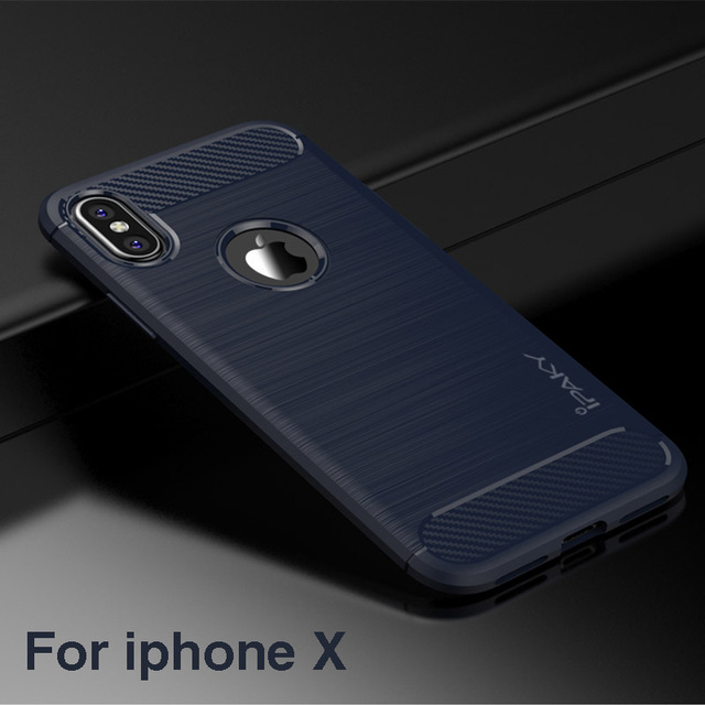 brand new a1680 556ed US $4.99 |For iPhone X Case Original iPaky Carbon Fiber Texture Brushed  Soft Silicone Back Cover For iPhone X case for iPhoneX case-in Fitted Cases  ...