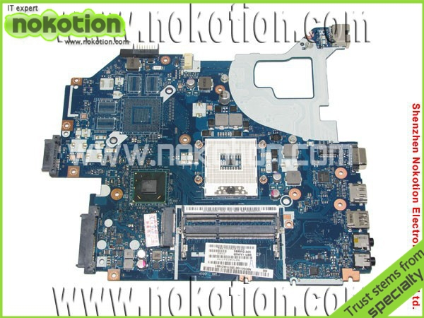 NOKOTION Q5WVH LA-7912P laptop motherboard for Acer V3-571 Intel NBY1111001 NB.Y1111.001 Mainboard DDR3 nokotion laptop motherboard for lenovo g570 la 675ap mainboard intel hp65 ddr3 socket pga989