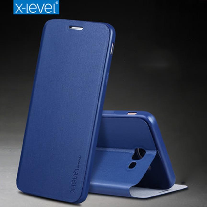 Per Samsung J5 Prime G570 Stile di Affari Caso di Vibrazione X-Livello PU Caso di cuoio di Lusso Del Basamento Della Copertura Per Samsung On5 2016 Coque Capinha