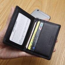 Lanspace de cuero titular de la tarjeta pequeña tarjeta sostenedores de la identificación carteras los titulares de la moneda de la manera
