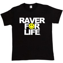 цена Raver For Life Old Skool Rave Acid DJ Festival Shirt Mens T-Shirt Harajuku Tops Fashion Classic Unique t-Shirt gift free онлайн в 2017 году