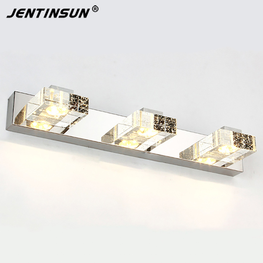 Crystal Warm white 3Heads 9W 46cm LED modern crystal wall lights lamp sconce , Factory wholesale Bathroom LED lightings new design nature white 2heads 6w 30cm led modern crystal wall lights lamp sconce factory wholesale led lightings