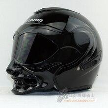 Nova personalidade Marushine capacete da motocicleta Meio capacete de Corrida capacete Marushin C609 careta estilo guerreiro capacete Aberto da cara do Ciclo