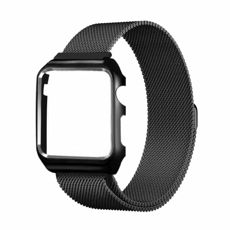 Luxury Milan Replacement Smart Watch Stainless Steel WatchStraps +Frame Case Shell for apple wacthbands 38mm 42mm