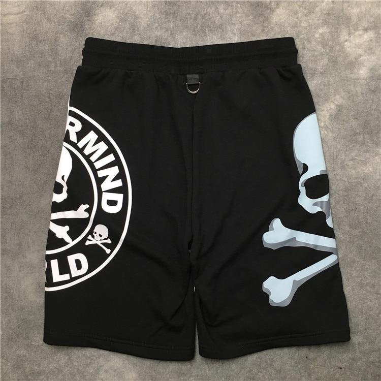 New Novelty High Men Comfortable Skull Bone MMJ Mastermind Skateboard Street Cotton Casual Shorts Kanye Hip-hop Parkour #L66