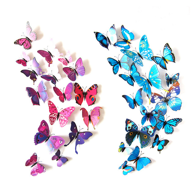 Marvelous 12pcs/set 3d Wall Stickers For Kids Room Butterfly Wall Decorations Living  Room Bedroom Fridge