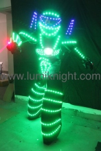 LED robot costume /David Guetta LED robot suit/ illuminated kryoman Robot/ LED clothing luminous costumes