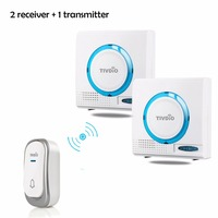 Wireless Doorbell Battery Door Bell Chime Kit Remote Button With Receiver LED Indicator F9508
